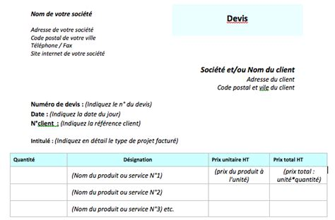 Comment Faire Un Devis En Plomberie 2209 by Comment Faire Un Devis B 226 Timent Et Exemple De Devis