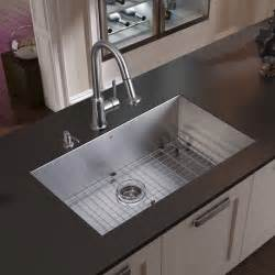 kitchen sinks and faucets vigo undermount stainless steel kitchen sink faucet grid strainer and dispens modern kitchen