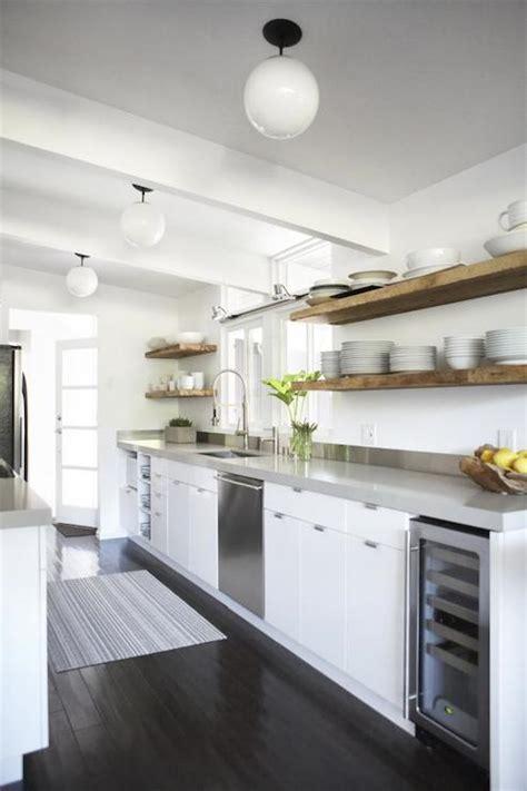 Rustic Floating Shelf  Contemporary  Kitchen  Studio One