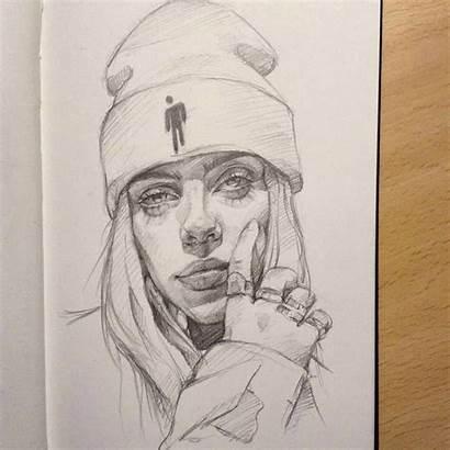 Billie Eilish Drawing Instagram Draw Drawings Sketch