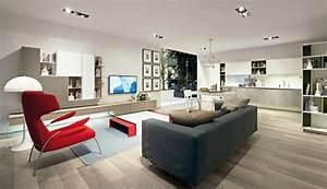 Un design italien pour un sejour contemporain elegant for Design italien sejour moderne euromobil