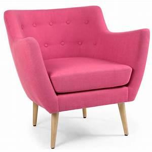 Fauteuil Rose Scandinave : louer fauteuil en tissu rose style scandinave ~ Teatrodelosmanantiales.com Idées de Décoration