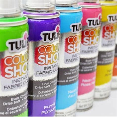 colour shot fabric spray paint 3oz 103 5ml tulip from