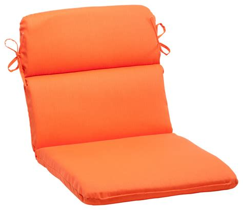 sundeck orange rounded corners chair cushion
