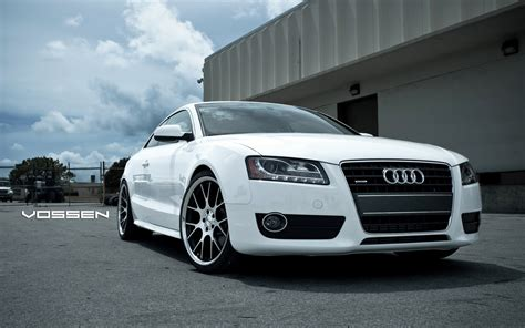 White Sport Audi A6 By Vossen Hd Wallpaper