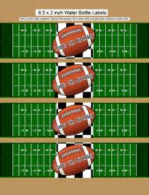 Free Printable Water Bottle Labels Football