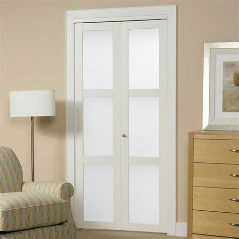 Frosted Glass Closet Doors by Shop Reliabilt White 3 Lite Solid Tempered Frosted