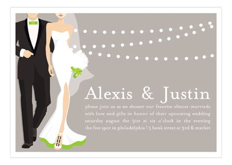 Baby Shower For Couples Invitations by Green Glamour Couple Wedding Shower Invitation Polka Dot Design