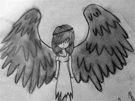 drawn angel fallen angel pencil   color drawn angel
