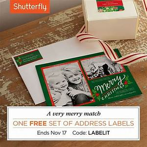 17 best images about shutterfly savings on pinterest With christmas cards with matching address labels