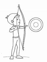 Coloring Arrow Boy Bow Targets Arrowhead Target Pages Template Printable Print Getcolorings sketch template