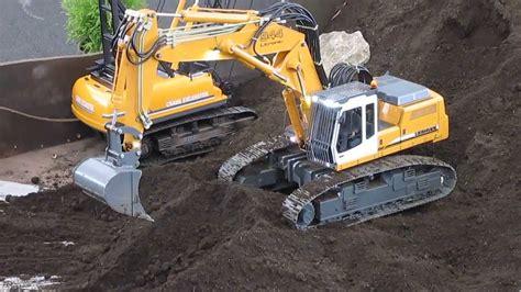 rc model   liebherr excavator youtube