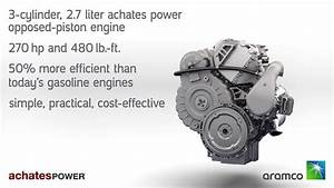 Achates Power Aramco 2 7l Op Engine Animation