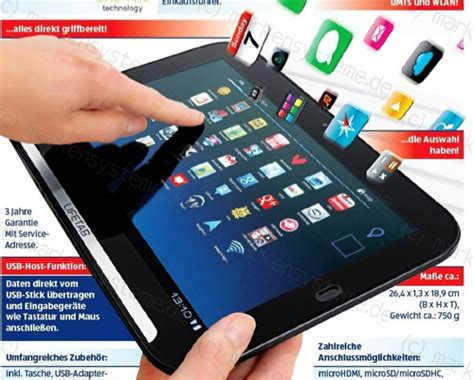 aldi neues android tablet mit umts fuer  euro