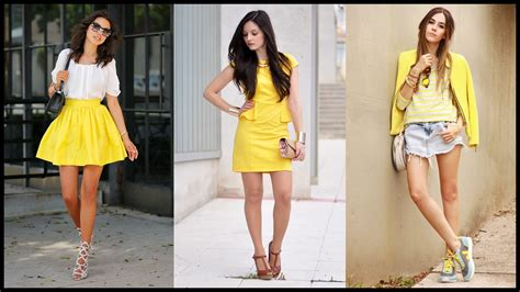 wear yellow outfit combinations   spring