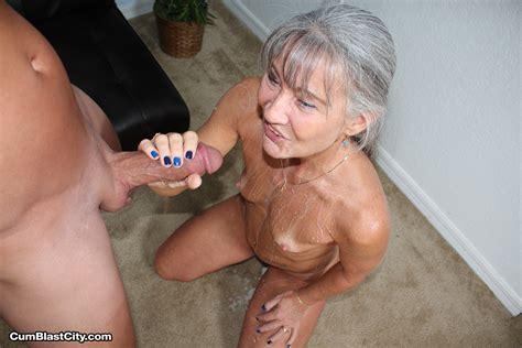 Granny Drains His Balls Cumblastcity Facial Video