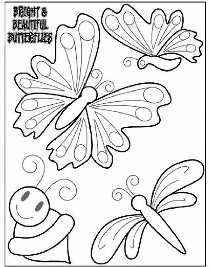 Coloring Pages Butterflies Bright Crayola Butterfly Sheets