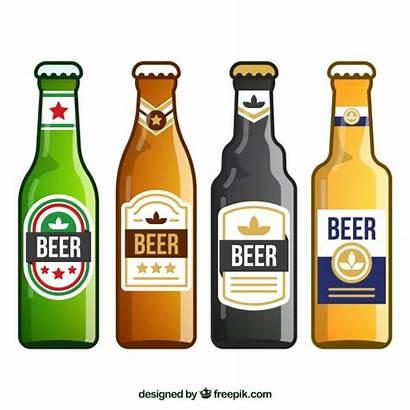 Beer Bottle Vector Label Flat Freepik Labels