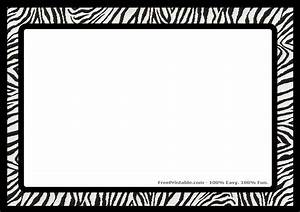 Printable Border Zebra Print Scrapbook Paper | Joy Studio ...