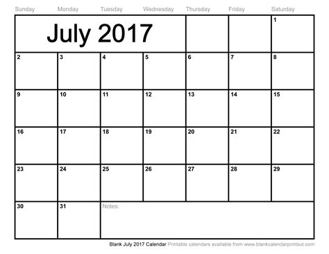 calendar template for june july august 2017 blank july 2017 calendar to print