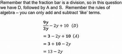 Bidmas Maths Gcse Question Educationquizzes