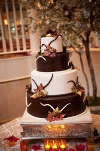 two tier cake stand fall wedding cakes