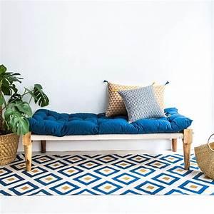 tapis jaune et bleu Idées de Décoration intérieure