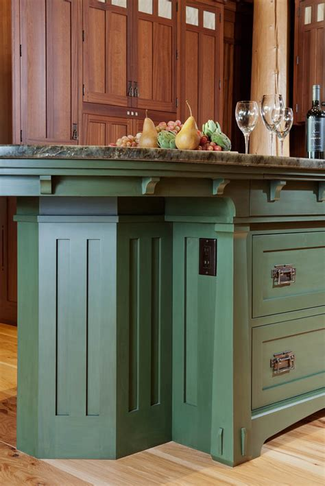 arts and crafts kitchen island gallery page 2 crown point cabinetry 7515