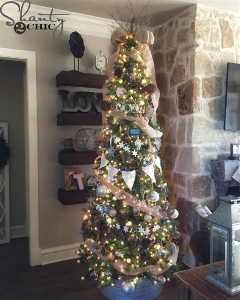 decorating tiny chic tree how to decorate a rustic tree shanty 2 chic