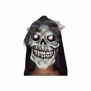 Déguisement Halloween Qui Fait Peur : masque de squelette blanc masque de d guisement qui fait peur masque adulte avec cheveux ~ Dallasstarsshop.com Idées de Décoration