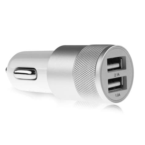 iphone 6 car charger aluminium 2 port usb universal car charger for iphone 6 6s