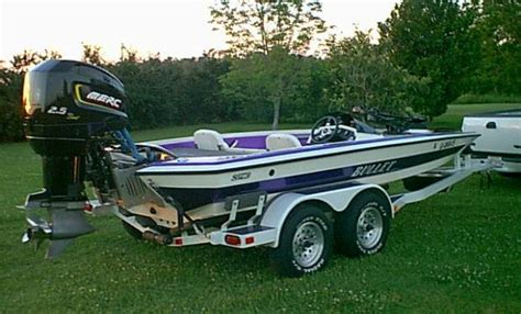 Purple Bass Boat by Purple And White Bullet With Mariner 200
