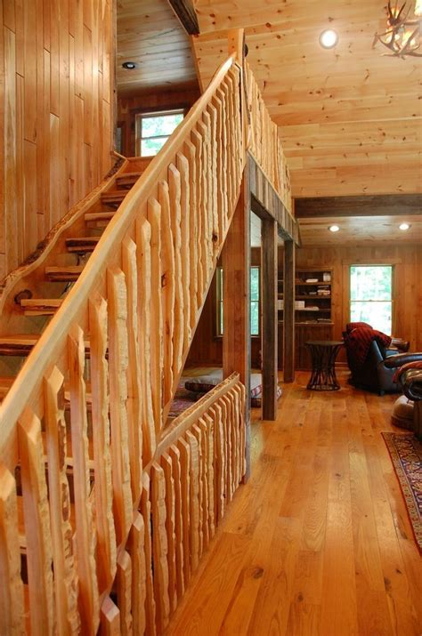 Hand Crafted Cherry Staircase With Live Edge Slab Material