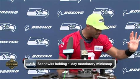 seahawks qb russell wilson interviews young fans youtube