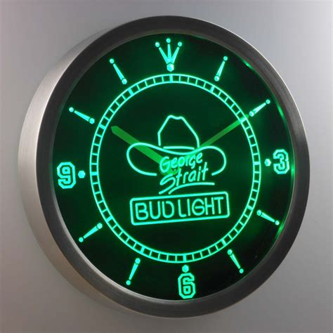 bud light george strait led neon wall clock safespecial