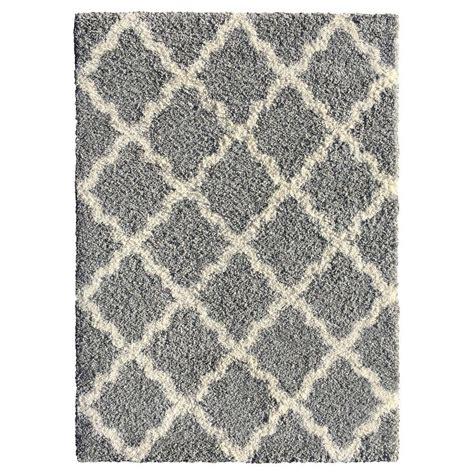 5x7 grey rug moroccan trellis gray 5 ft x 7 ft indoor area rug 2894