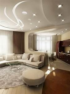 Decoration Faux Plafond : plafond platre suspendu decoration plafond ~ Melissatoandfro.com Idées de Décoration