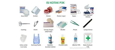 kotak p3k isi 2 daftar isi perlengkapan kotak p3k pertolongan pertama