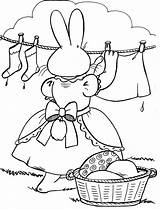 Coloring Clothes Pages Clothesline Hanging Template Easter Sheets Popular Mother Emoji sketch template
