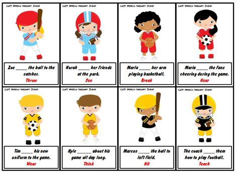 lizs speech therapy ideas sports language packets