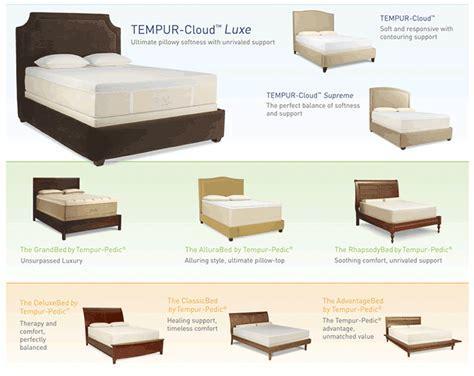 tempur cloud prima vs supreme tempur pedic tempurpedic contour allura memory foam