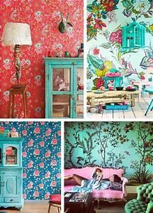 Papier Peint Fleuri Vintage : envies d co 1 la tendance papier peint entre floral et tropical ideas papier peint ~ Melissatoandfro.com Idées de Décoration