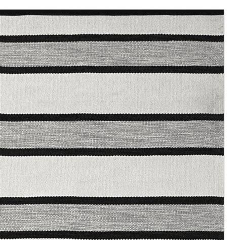 Stripe Outdoor Rug by Perennials 174 Awning Stripe Indoor Outdoor Rug Black