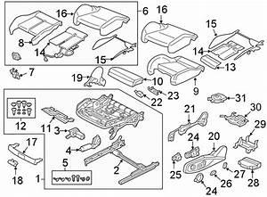 2017 Audi A4 Prestige Sedan 2 0l A  T Quattro Seat Frame Hardware Kit  Components  Cushion  Track
