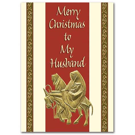 merry christmas to my husband christmas card