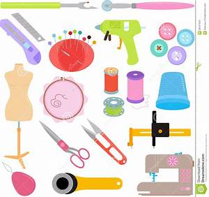 Sewing Tools And Handicraft Stock Vector - Image: 28137434