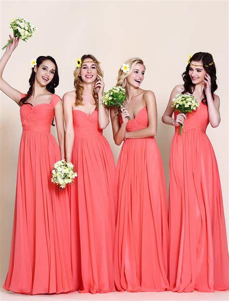 coral color dresses coral bridesmaid dresses search