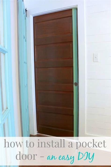 install  pocket door  surprisingly easy diy