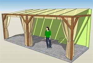 Holz Pergola Selber Bauen : pergola aus holz mit sonnensegel garten pinterest ~ Lizthompson.info Haus und Dekorationen
