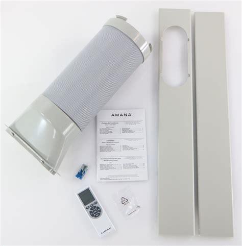 amana amapaw portable air conditioner  remote control  silvergray  rooms